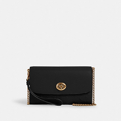 COACH 4126 CHAIN CROSSBODY IN SIGNATURE LEATHER IM/BLACK