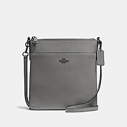 KITT MESSENGER CROSSBODY - 41320 - GUNMETAL/HEATHER GREY