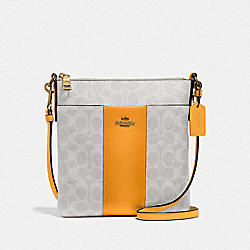 COACH 41321 - KITT MESSENGER CROSSBODY IN COLORBLOCK SIGNATURE CANVAS B4/CHALK POLLEN