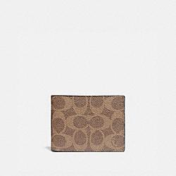 COACH 41328 Slim Billfold Wallet In Signature Canvas KHAKI