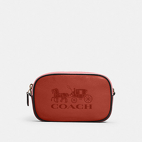 COACH JES CONVERTIBLE BELT BAG IN COLORBLOCK WITH HORSE AND CARRIAGE - IM/ROSE MULTI - 4162