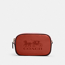JES CONVERTIBLE BELT BAG IN COLORBLOCK WITH HORSE AND CARRIAGE - 4162 - IM/ROSE MULTI