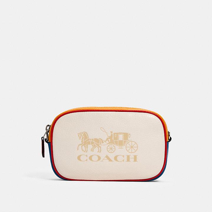 コーチ公式アウトレット   ジェス コンバーチブル ベルト バッグ カラーブロック ホース アンド キャリッジ   ミニバッグ/ボディバッグ/ベルトバッグ