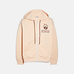 COACH 4236 Big Apple Camp Jersey Hoodie IVORY