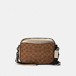 COACH 42409 - CAMERA BAG IN SIGNATURE CANVAS V5/TAN PLATINUM