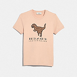 COACH 42919 - REXY STICKER T-SHIRT PINK