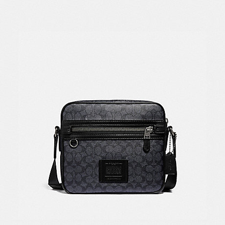 COACH 43008 DYLAN 27 IN SIGNATURE CANVAS CHARCOAL/BLACK ANTIQUE NICKEL