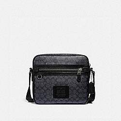 COACH 43008 - DYLAN 27 IN SIGNATURE CANVAS CHARCOAL/BLACK ANTIQUE NICKEL