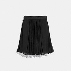 COACH 43025 - PLEATED SKIRT BLACK