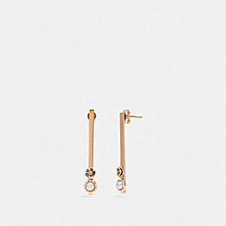 COACH 43026 Demi-fine Sunburst Bar Earrings GREY/ROSE GOLD