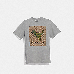COACH 43064 Signature Rexy T-shirt HEATHER GREY