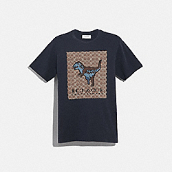 COACH 43064 Signature Rexy T-shirt ABYSS