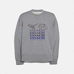 COACH 43420 - SHADOW REXY AND CARRIAGE SWEATSHIRT HEATHER GREY