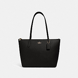 ZIP TOP TOTE - 4454 - IM/BLACK