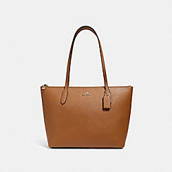 ZIP TOP TOTE - 4454 - IM/LIGHT SADDLE