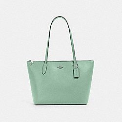 ZIP TOP TOTE - 4454 - SV/WASHED GREEN