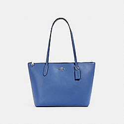 ZIP TOP TOTE - 4454 - SV/STONE BLUE