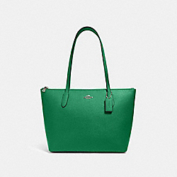 COACH 4454 - ZIP TOP TOTE SV/SHAMROCK