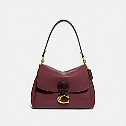 COACH 4612 May Shoulder Bag With Snakeskin Detail BRASS/WINE