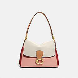 COACH 4613 - MAY SHOULDER BAG IN COLORBLOCK BRASS/IVORY BLUSH MULTI