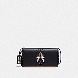 COACH 46812 - DINKY WITH PYRAMID EYE BLACK/PEWTER