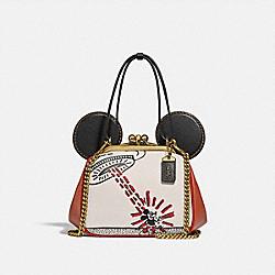 COACH 4719 Disney Mickey Mouse X Keith Haring Kisslock Bag B4/CHALK 1941 SADDLE