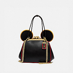 COACH 4720 Disney Mickey Mouse X Keith Haring Kisslock Bag B4/BLACK MULTI