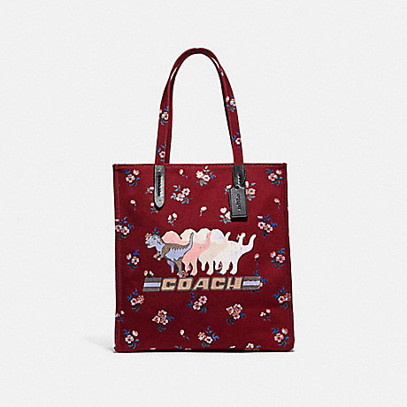 COACH 47553 TOTE WITH SHADOW REXY V5/WINE