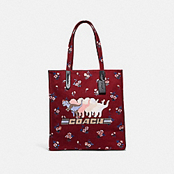 COACH 47553 - TOTE WITH SHADOW REXY V5/WINE