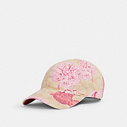 COACH 4767 Hat With Signature Kaffe Fassett Print LIGHT KHAKI