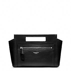 LEGACY BASKET CLUTCH IN LEATHER