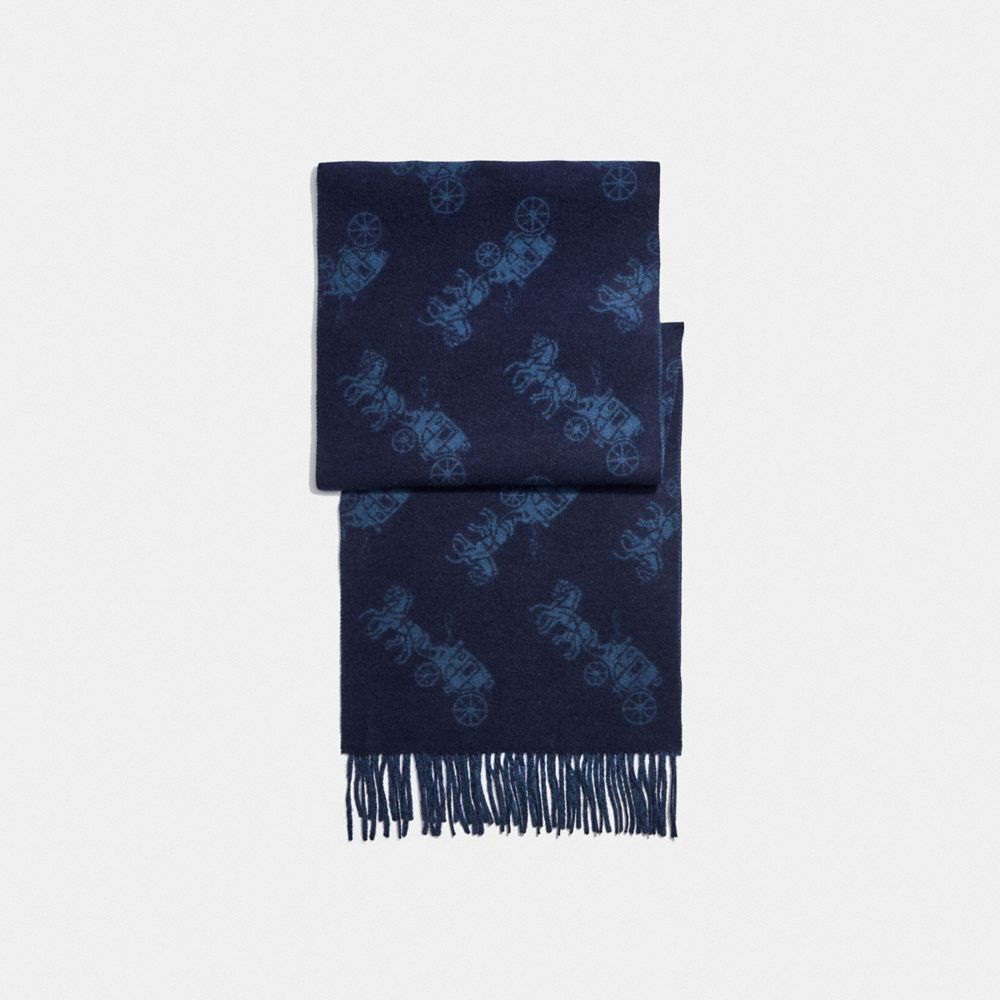 CASHMERE HORSE AND CARRIAGE SCARF