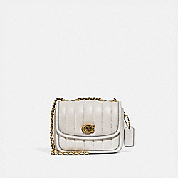 COACH 4870 Madison Shoulder Bag 16 With Quilting B4/CHALK