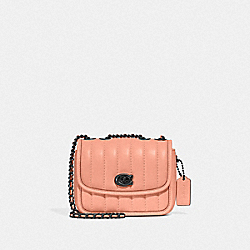 MADISON SHOULDER BAG 16 WITH QUILTING - V5/FADED BLUSH - COACH 4870