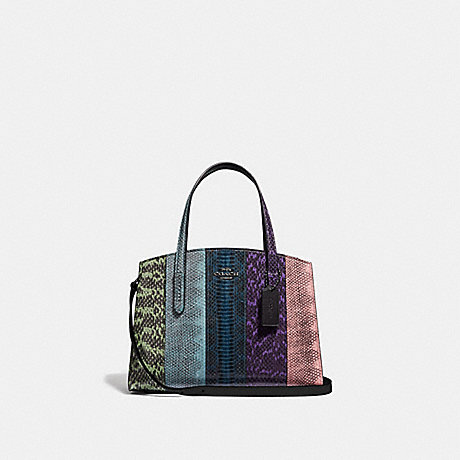 COACH 51334 CHARLIE CARRYALL 28 IN OMBRE SNAKESKIN GUNMETAL/MULTICOLOR