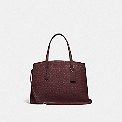 COACH 51728 - CHARLIE CARRYALL IN SIGNATURE LEATHER GD/OXBLOOD