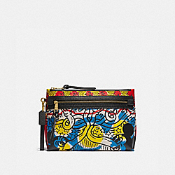COACH 5217 - DISNEY MICKEY MOUSE X KEITH HARING ACADEMY POUCH MULTI