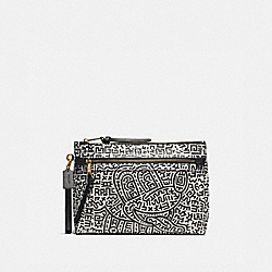 DISNEY MICKEY MOUSE X KEITH HARING ACADEMY POUCH - 5220 - BLACK/WHITE