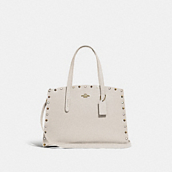 COACH 52244 - CHARLIE CARRYALL WITH RIVETS GOLD/CHALK