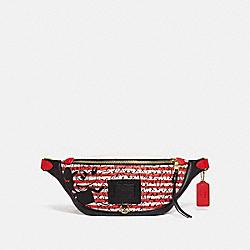 DISNEY MICKEY MOUSE X KEITH HARING RIVINGTON BELT BAG - 5225 - OL/RED MULTI
