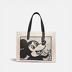 DISNEY MICKEY MOUSE X KEITH HARING TOTE 42 - 5226 - OL/CHALK MULTI
