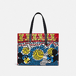DISNEY MICKEY MOUSE X KEITH HARING TOTE 42 - 5227 - OL/BLUE MULTI