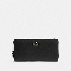 COACH 52372 Accordion Zip Wallet LI/BLACK