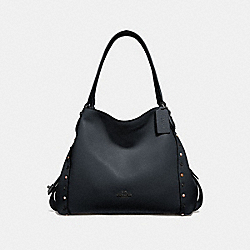 COACH 52546 - EDIE SHOULDER BAG 31 WITH RIVETS GM/MIDNIGHT NAVY
