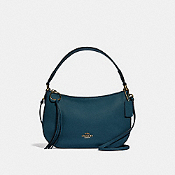 COACH 52548 Sutton Crossbody GD/PEACOCK