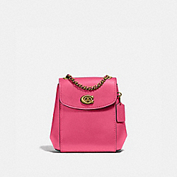 COACH 52670 Parker Convertible Backpack 16 BRASS/CONFETTI PINK