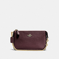 COACH 53077 - NOLITA WRISTLET 19 OXBLOOD/LIGHT GOLD