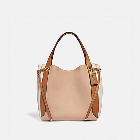 COACH 53353 HARMONY HOBO IN COLORBLOCK B4/BEECHWOOD