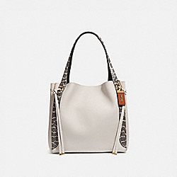 COACH 53355 Harmony Hobo In Colorblock With Snakeskin Detail B4/CHALK
