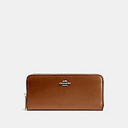 COACH 53707 Slim Accordion Zip Wallet LI/1941 SADDLE